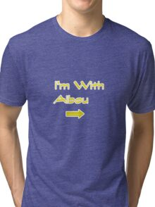 I'm With Aibou Tri-blend T-Shirt