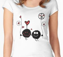 Love & Peace Women's Fitted Scoop T-Shirt