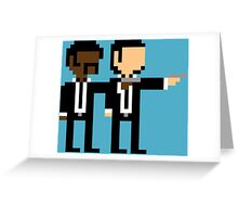 8Bit Pulp Fiction Greeting Card