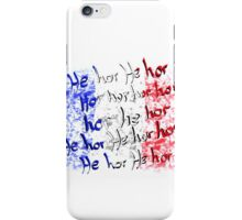french national anthem iPhone Case/Skin