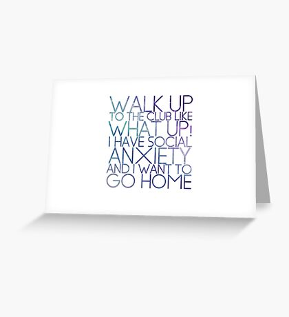 WHAT UP! Greeting Card
