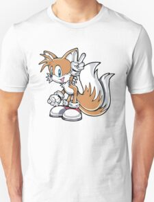 Tails Give a Peace Sign Unisex T-Shirt