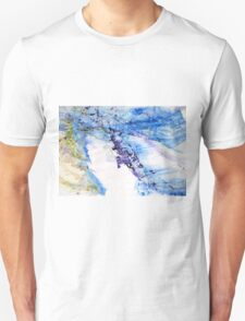 One year of joy, another of comfort, and all rest of content - Original Wall Modern Abstract Art Painting Original mixed media Unisex T-Shirt