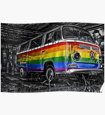 VW van GAY ride Poster