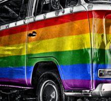 VW van GAY ride Sticker