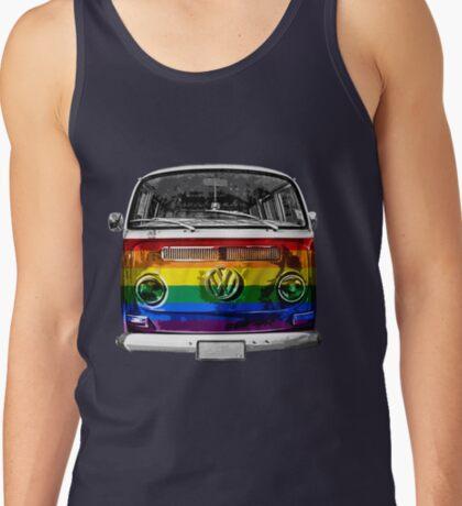 VW van Rainbow Tank Top