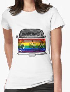 VW van Rainbow Womens Fitted T-Shirt