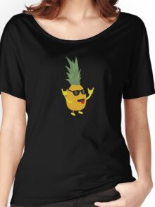 rock'n'roll pineapple Women's Relaxed Fit T-Shirt