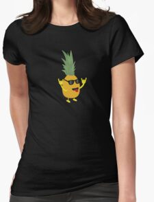 rock'n'roll pineapple Womens Fitted T-Shirt
