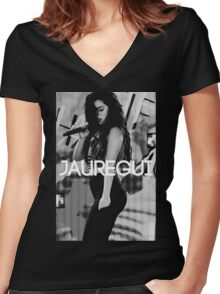 "Lauren Jauregui ""Jauregui Designs"" Women's Fitted V-Neck T-Shirt"