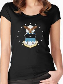 US AIR FORCE ACADEMY Women's Fitted Scoop T-Shirt