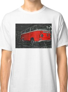 Red combi Volkswagen side _edited version Classic T-Shirt