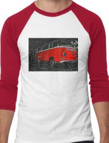 Red combi Volkswagen side _edited version Men's Baseball ¾ T-Shirt