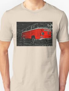 Red combi Volkswagen side _edited version Unisex T-Shirt