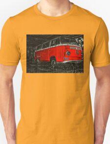 Red combi Volkswagen side _edited version Unisex T-Shirt