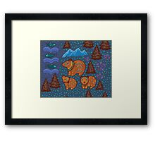 National park and the Three Bears Framed Print
