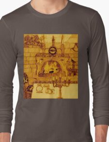 A Dining Room In A Medieval Castle Overrun By Rats And Bats And Sepia, Too Long Sleeve T-Shirt