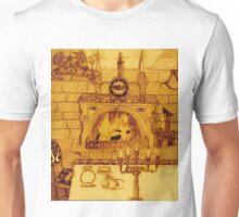 A Dining Room In A Medieval Castle Overrun By Rats And Bats And Sepia, Too Unisex T-Shirt