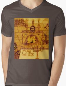 A Dining Room In A Medieval Castle Overrun By Rats And Bats And Sepia, Too Mens V-Neck T-Shirt