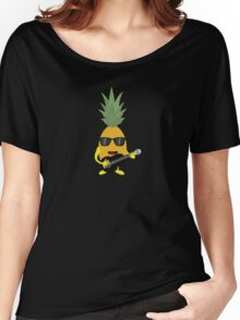 Rock 'n' Roll Pineapple Women's Relaxed Fit T-Shirt