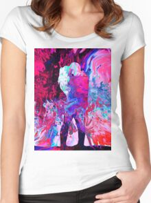 Abstract 50 Women's Fitted Scoop T-Shirt