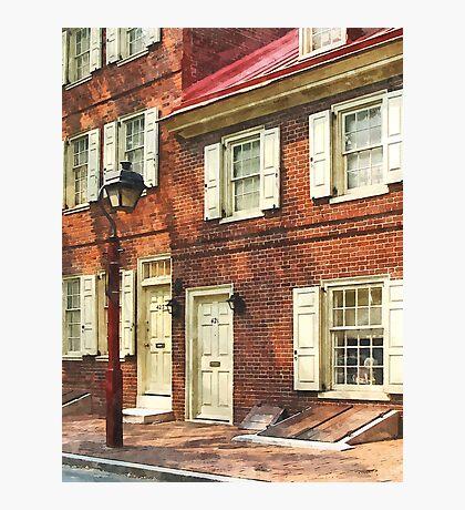 Philadelphia PA Brownstone Photographic Print