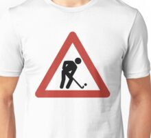 Hockey Men at Work! Unisex T-Shirt