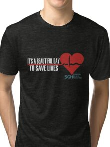 Grey's Anatomy - It's a Beautiful Day to Save Lives Tri-blend T-Shirt