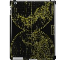 Vintage Map of The World (1857) Black & Yellow  iPad Case/Skin