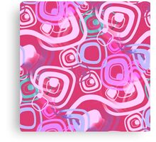 Sixties Hippie Psychedelic Pink Canvas Print