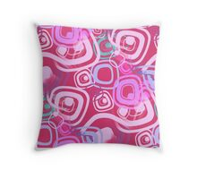 Sixties Hippie Psychedelic Pink Throw Pillow