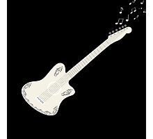 guitar and flying musical notes,vector illustration Photographic Print