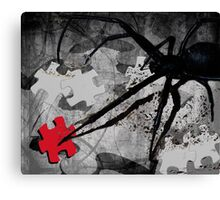 once there was this spider Canvas Print