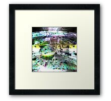 Bursting Colours Framed Print