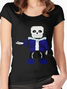 Sans - Undertale - Minecraft Women's Fitted Scoop T-Shirt