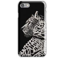 Black and White Cheetah Orange Eyes iPhone Case/Skin