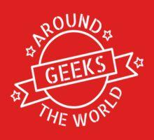 Geeks around the world Kids Tee