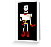 Papyrus - Undertale - Minecraft Greeting Card