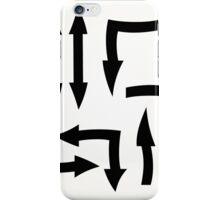 black arrow icons,vector illustration iPhone Case/Skin