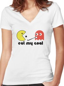 Eat My Goal Women's Fitted V-Neck T-Shirt