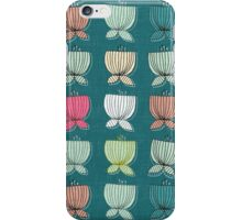 flower cups teal iPhone Case/Skin