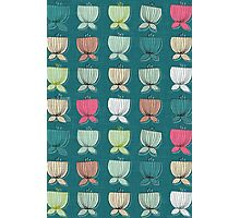 flower cups teal Photographic Print