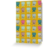 flower cups yellow Greeting Card