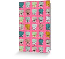 flower cups pink Greeting Card
