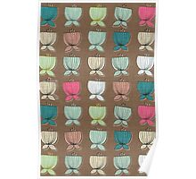 flower cups brown Poster