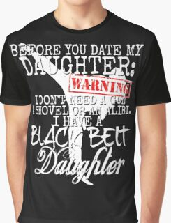 Funny Daughter Shirt Date Dating Mom Dad Martial Arts Teen Karate Taekwondo Graphic T-Shirt