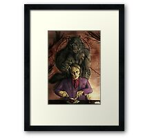 Werewolf gourmet - colored Framed Print