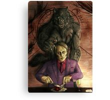 Werewolf gourmet - colored Canvas Print
