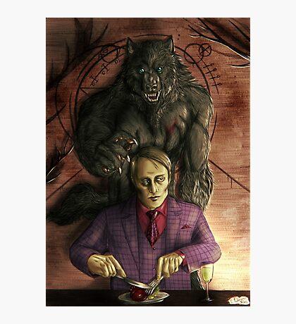 Werewolf gourmet - colored Photographic Print