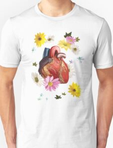 Heart And Flowers Unisex T-Shirt